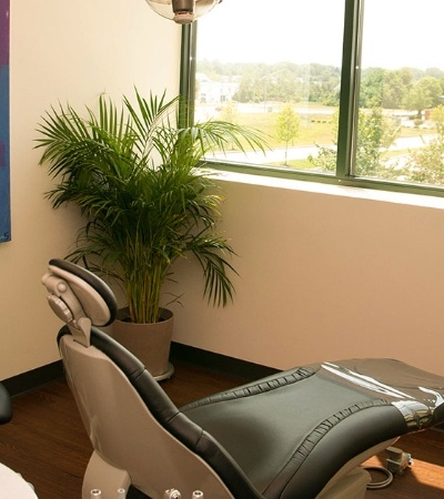 Dental chair where dental implant tooth replacement is performed