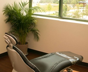 Dental treatment room where periodontal therapy is offered for gum disease